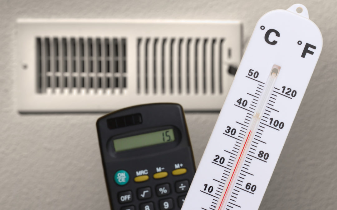Photo of thermometer calculator and air-supply grille